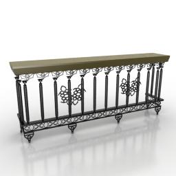 Balcony 3D Model dbd11b11
