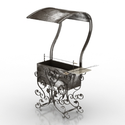 Barbecue 3D Model 076d1add