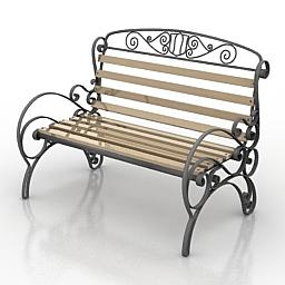 Bench 3D Model f67fccf5