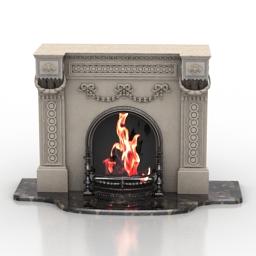 Fireplace 3D Model 73767cee